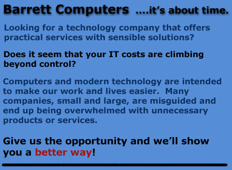 Barrett Computers  ....it's about time.